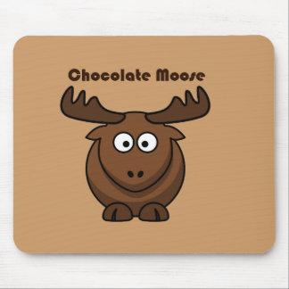 Bande dessinée d'orignaux de chocolat tapis de souris