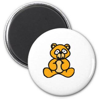 Bande dessinée d'ours de bébé magnet rond 8 cm