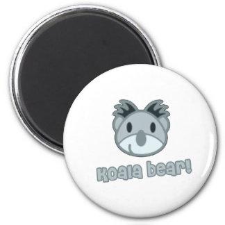 Bande dessinée d'ours de koala de bébé magnet rond 8 cm