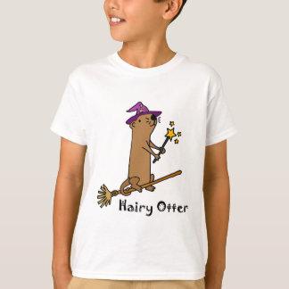 Bande dessinée drôle de magicien de loutre de mer t-shirt