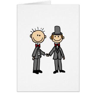 Bande dessinée drôle de mariage homosexuel de carte de vœux