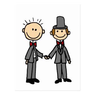 Bande dessinée drôle de mariage homosexuel de carte postale