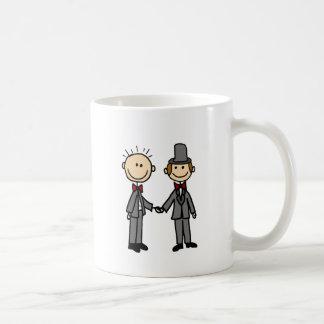 Bande dessinée drôle de mariage homosexuel de mug