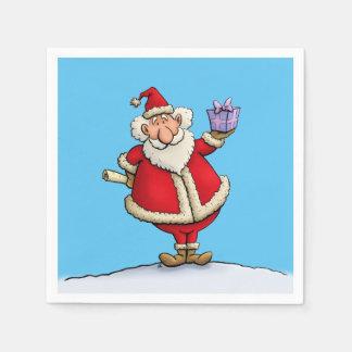 bande dessinée drôle de Noël de la livraison de Serviettes Jetables