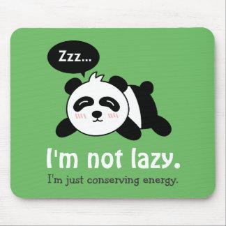 Bande dessinée drôle de panda mignon de sommeil tapis de souris