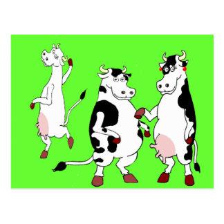 Bande dessinée drôle de vaches cartes postales