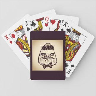bande dessinée drôle de visage de troll d'idiot jeu de cartes