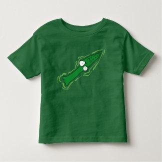 bande dessinée drôle de vue supérieure de t-shirt pour les tous petits