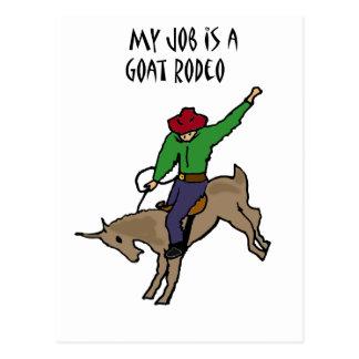 Bande dessinée drôle d'humour du travail de rodéo carte postale