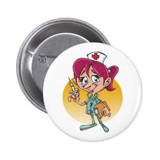 Bande dessinée drôle d'infirmière personnalisée badges