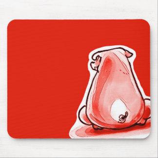 bande dessinée drôle porcine rouge tapis de souris