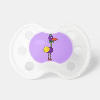 Bande dessinée drôle VW-Colorée d'oiseau de dronte Sucettes Pour Bébé