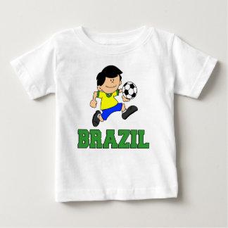 Bande dessinée du football du Brésil T-shirt Pour Bébé