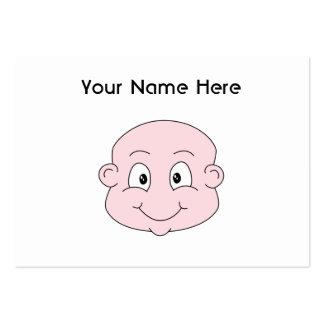 Bande dessinée d'un bébé mignon, souriant carte de visite grand format