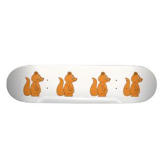 Bande dessinée d'un écureuil rouge skateboards