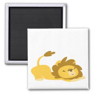 Bande dessinée étirant l'aimant de lion magnet carré