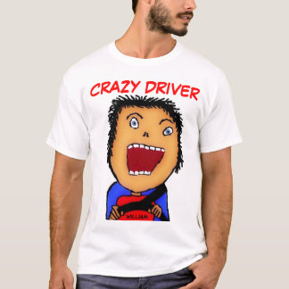 Bande dessinée folle de conducteur t-shirt