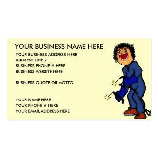 Bande dessinée folle de soudeur modèles de cartes de visite