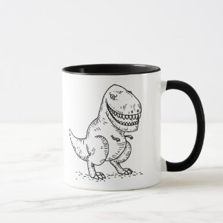 Bande dessinée fraîche moyenne du dinosaure T Rex Mug