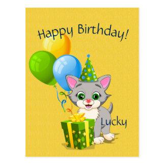 Bande dessinée grise de chaton de Cutie Carte Postale