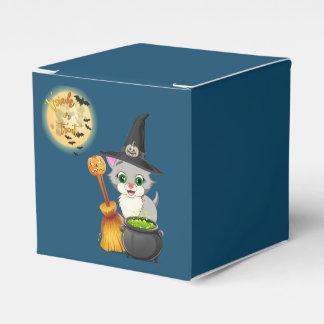 Bande dessinée grise de Halloween de chaton Ballotins