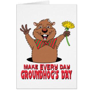 Bande dessinée Groundhog Carte De Vœux