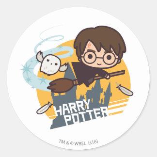 Bande dessinée Harry et vol de Hedwig après Sticker Rond