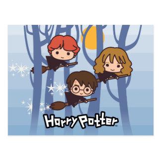 Bande dessinée Harry, Ron, et vol de Hermione en Cartes Postales