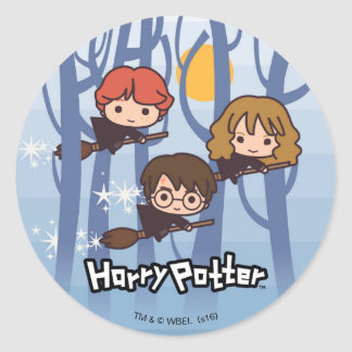Bande dessinée Harry, Ron, et vol de Hermione en Sticker Rond