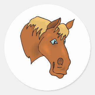 Bande dessinée Horsehead Sticker Rond