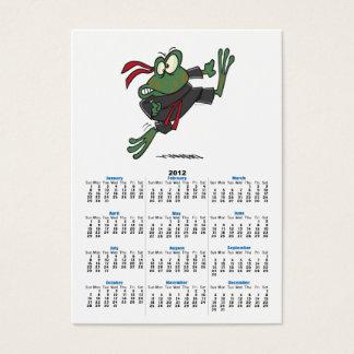 bande dessinée idiote de grenouille de ninja cartes de visite
