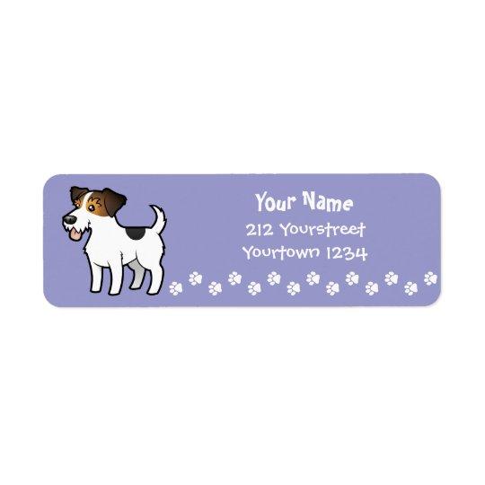 Bande dessinée Jack Russell Terrier Étiquettes D'adresse Retour