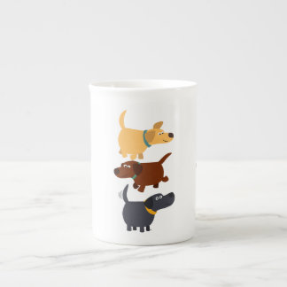Bande dessinée Labradors dans la tasse de Mug En Porcelaine