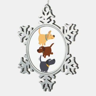 Bande dessinée Labradors en ornement d'étain de 3