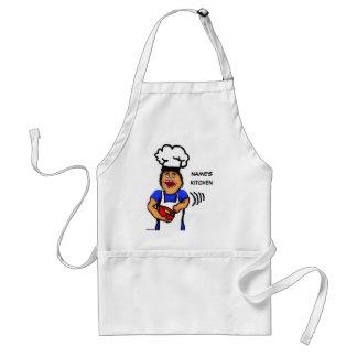 Bande dessinée masculine de cuisinier tablier