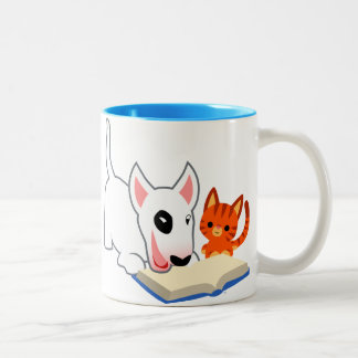 Bande dessinée mignonne Bullie et Kitty avec la Mug Bicolore