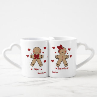 Bande dessinée mignonne de biscuits de pain lot de mugs