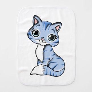 Bande dessinée mignonne de chat bleu linges de bébé
