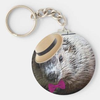 Bande dessinée mignonne de marmotte d'Amérique ! Porte-clés