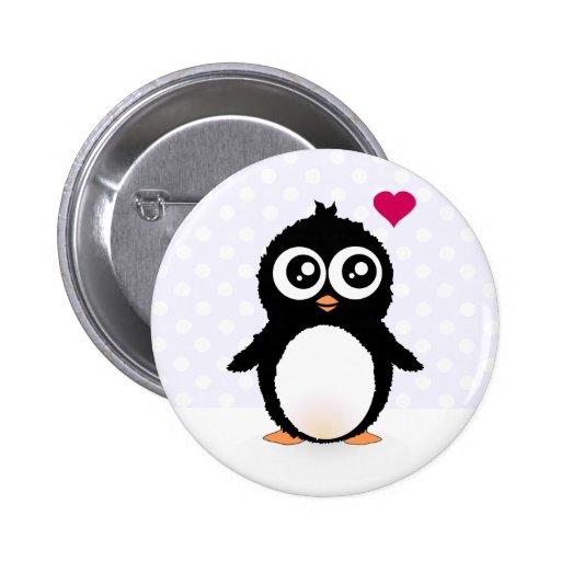 Bande dessinée mignonne de pingouin badge