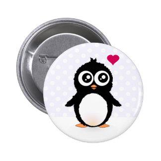 Bande dessinée mignonne de pingouin badge rond 5 cm
