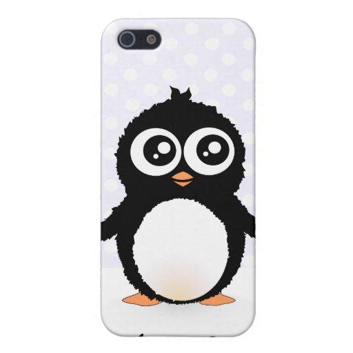 Bande dessinée mignonne de pingouin étui iPhone 5