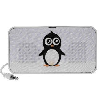Bande dessinée mignonne de pingouin haut-parleurs mp3