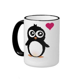 Bande dessinée mignonne de pingouin mug ringer
