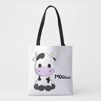 Bande dessinée mignonne de vache à bébé sac