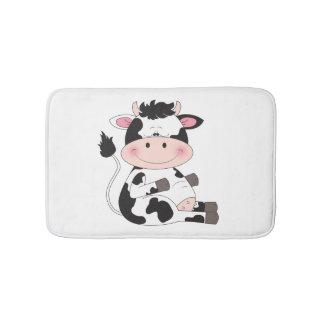 Bande dessinée mignonne de vache à bébé tapis de bain