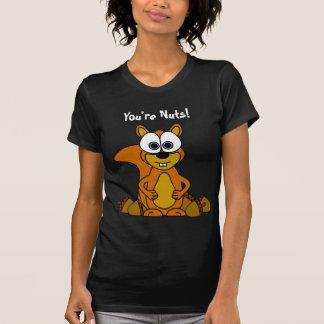 Bande dessinée mignonne d'écureuil t-shirt
