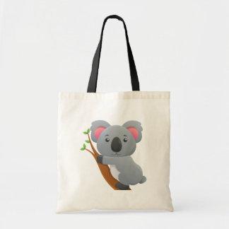 Bande dessinée mignonne d'ours de koala sac en toile