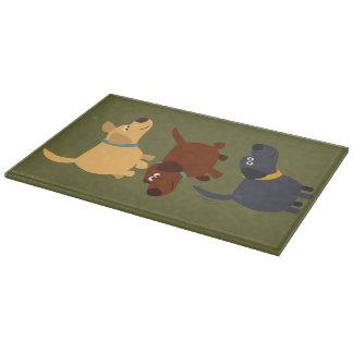 Bande dessinée mignonne Labradors dans la planche Planche À Découper
