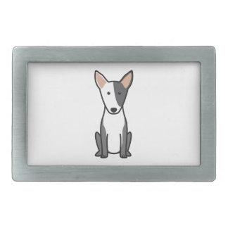 Bande dessinée miniature de chien de bull-terrier boucle de ceinture